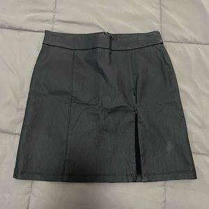 Pleather Mini Skirt